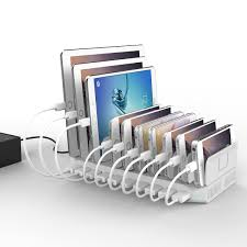 decorative charging station amazon com powerport 96w 2 4a max unitek 10 port usb charger