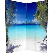 Canvas Room Divider Oriental Furniture 6 U0027 Double Sided Ocean Canvas Room Divider 4
