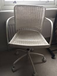 Desk Chair White by White Wicker Desk Chair Ikea Wheeled In Clapham London Gumtree