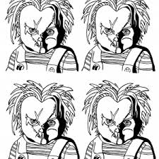 chucky coloring page warhol coloring pages coloring pages for adults justcolor