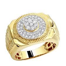 mens gold diamond rings rings 0 9ct 10k gold diamond ring for men
