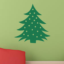 wall decal christmas tree with lights color the walls of your house wall decal christmas tree with lights christmas tree with baubles wall sticker world of