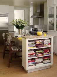 white island with open shelves wooden black white striped chair