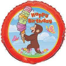 curious george birthday 18 foil curious george birthday balloon walmart