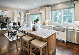 kitchen cabinets open floor plan family home floor color scheme ideas home bunch