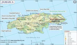 jamaica physical map jamaica map map of jamaica