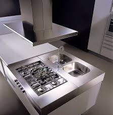 kitchen room 2017 rectangular range hood mounted on plain white