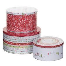 christmas tins pimpernel christmas wish cake tins set of 3