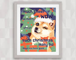Christmas Doge Meme - shiba inu xmas card etsy