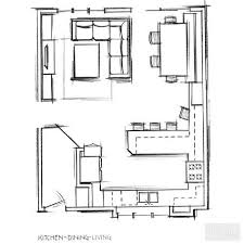 kitchen dining room floor plans l shaped open plan layout gallery wall and wall collages