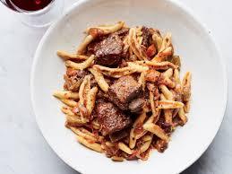 cavatelli with sparerib ragù recipe josh laurano food u0026 wine