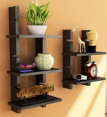 wall shelves pepperfry home sparkle black ladder shelf by home sparkle online wall