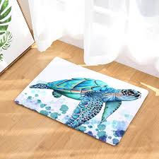 Painting An Outdoor Rug 2017 Modern Colorful Sea Turtle Painting Carpets Anti Slip Floor