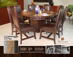 Copper Dining Room Tables Ifd 1075 Copper King Dining Table Set Home Decoration