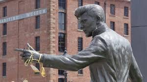 billy fury statue at albert dock liverpool merseyside