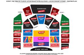 Sydney Entertainment Centre Floor Plan The Tribute Tour By Ustad Rahat Fateh Ali Khan In Sydney 2017