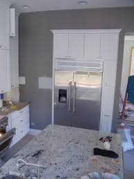 kitchen gray walls white cabinets i love the way these cabinets