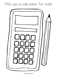 coloring pages for math we use a calculator for math coloring page twisty noodle
