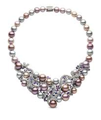sapphire pearl necklace images Yoko london pearl necklace in black gold with 10 13mm jpg