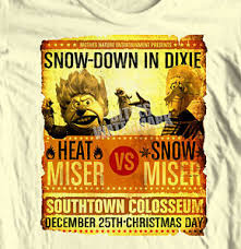 snow miser vs heat miser t shirt year without a santa clause