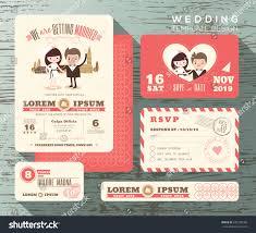 Wedding Invitation Response Card Cute Groom Bride Couple Wedding Invitation Stock Vector 247290160