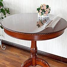 thick clear vinyl table protector amazon com eco thicken clear pvc round table protector cover clear