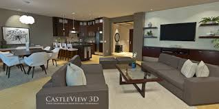 Images Of Virtual Living Room by Living And Dining Room Architectural Renderings From Castleview3d Com