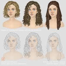 drawing and painting curly hair and dreadlocks by xiataptara