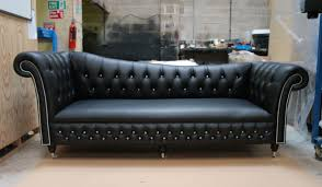 furniture chesterfield sofa leather 3seater chester moon by