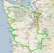 Washington Coast Map by Washington Coast Cascades Tour September 2 12 2008