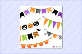 halloween bunting banners clipart by polpo design thehungryjpeg com