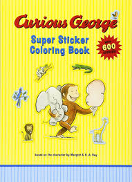 curious george super sticker coloring book rey