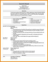 Resume Examples For Fast Food restaurant server resume food server resume best fast food server