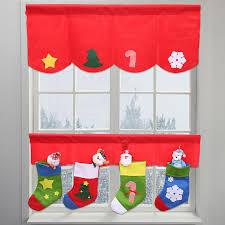 Snowflake Curtains Christmas Aliexpress Com Buy 2 Pcs Set Christmas Curtains Star Xmas Tree