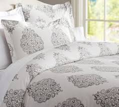 neutral colored bedding gray bedding pottery barn