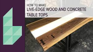 How To Make A Concrete Table by How To Make A Concrete And Wood Table Top Youtube