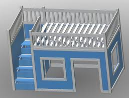 ana white build a full size playhouse loft bed with storage