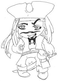 jack sparrow coloring pages