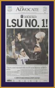 Lsu Garden Flag Louisiana State Tigers Advocate Lsu No 1 Plaque Mounted