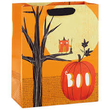 owl and pumpkin large halloween gift bag 13