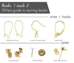 earrings without backs earring posts and backs best 25 earring backs ideas on