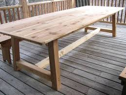 Outdoor Furniture Table by Outdoor Rustic Dining Table U2013 Rhawker Design
