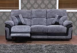 Grey Recliner Sofa Three Seater Fabric Recliner Sofa Okaycreations Net