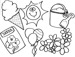 beach coloring pages preschool preschool flower colouring pages summer coloring for kindergarten