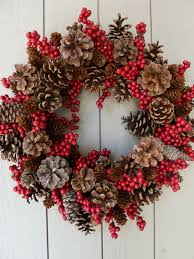 pine cone and berry wreath going to make this and add a burlap