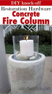 Restoration Hardware Fire Pit by How To Make A Restoration Hardware Concrete Fire Column In My