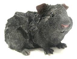 black coat guinea pig figure home garden ornament cavia