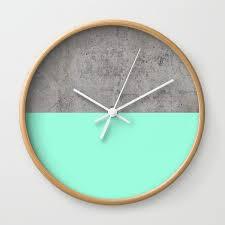wall clocks sea on concrete wall clock by cafelab society6
