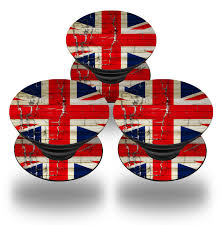 Colonial British Flag Popsockets Painted Faded And Cracked Union Jack British Flag