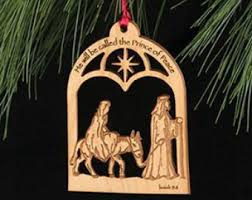 ornament custom engraved wooden tree